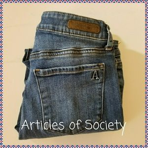 ARTICLES OF SOCIETY SKINNY JEANS, SIZE 25